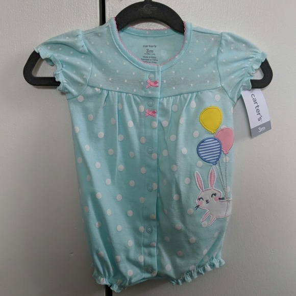 41a55cefa67c Baby girl easter bubble romper